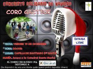 CARTEL CONCIERTO CORO GAZTEOK 19-12-2014
